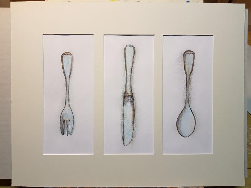 Lusikka, veitsi ja haarukka